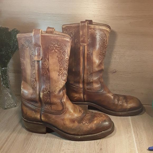 FREE SHIP! Mens 8.5 (Womens 9.5-10) Cow Boy Boots